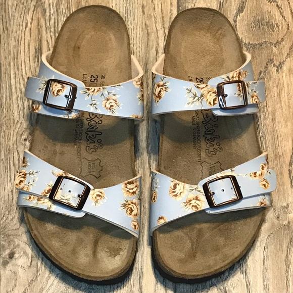 38f60e4259e5 Birkenstock Birki s Michelle Floral Buckle Sandal.  M 5bc563f134a4ef2aa1c83f37